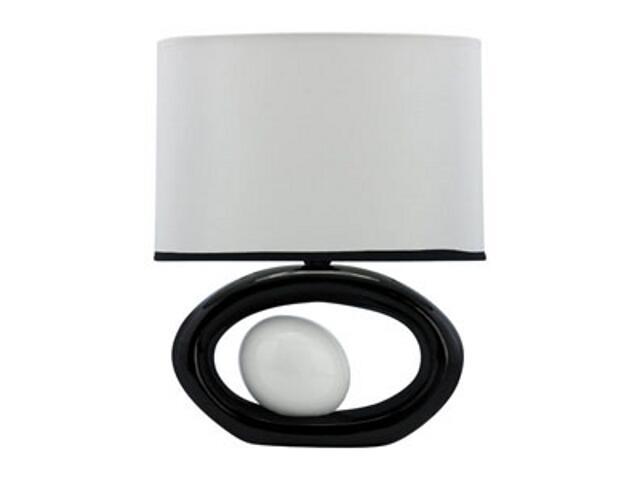 Lampa stołowa ceramiczna PORFIR 40W E14 D-2132 biała ANS