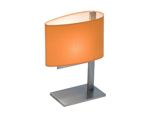 Lampa stołowa KINGSTON3 1x40W E14 nikiel / pomarańczowa Sanneli Design