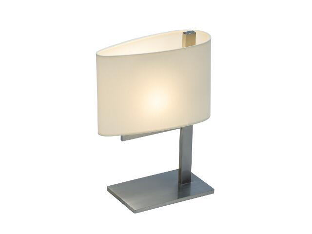 Lampa stołowa KINGSTON1 1x40W E14 nikiel / kremowa Sanneli Design