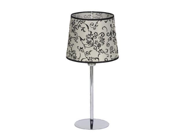Lampa stołowa Amsterdam2 1x60W E27 chrom / beż Sanneli Design