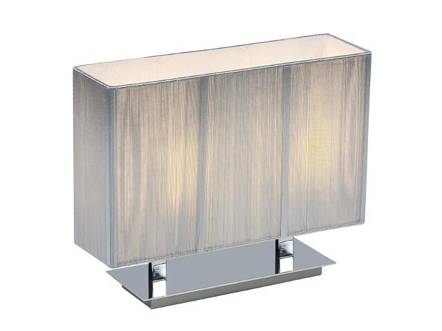 Lampa stołowa Barcelona1 2x40W E27 srebrna Sanneli Design