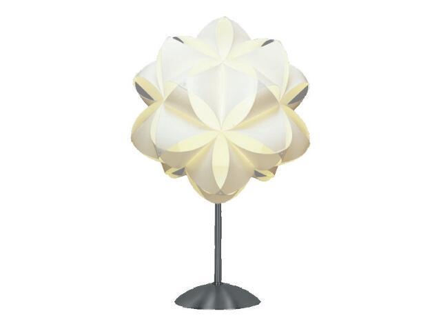 Lampa stołowa Dali 1x40W E27 biała Sanneli Design