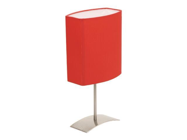 Lampa stołowa Argos 1x40W E27 satyna / czerwona Sanneli Design