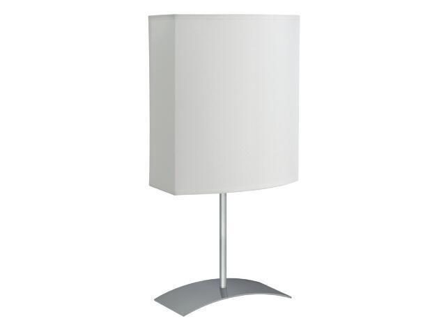 Lampa stołowa Argos 1x40W E27 satyna / biała Sanneli Design