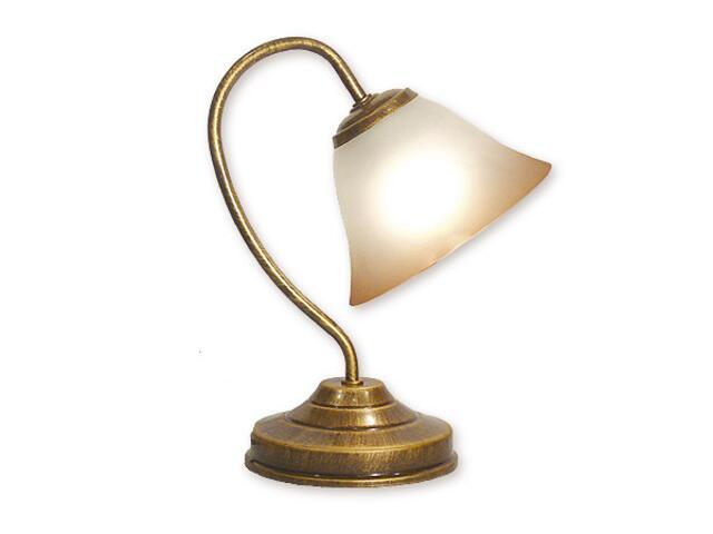 Lampa stołowa Lotos 1-płomienna patyna 288/L1 MAL Lemir