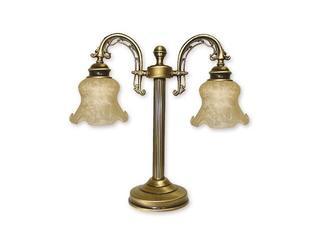 Lampa stołowa Tytan 2-płomienna patyna 348/L2 Lemir