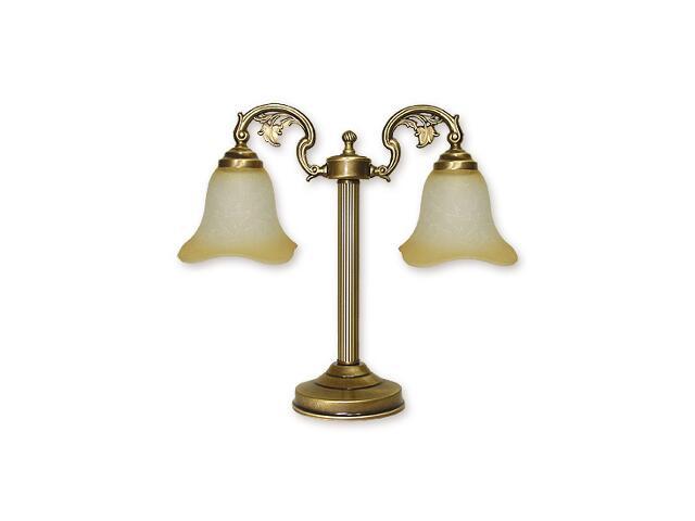 Lampa stołowa Retro 2-płomienna patyna 368/L2 Lemir