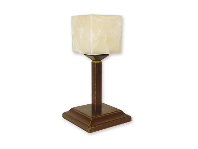 Lampa stołowa Kostka lampka góra 1-płomienna brązowa O1068G/L1 BR Lemir
