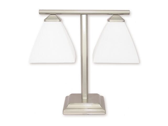 Lampa stołowa Kwant 2-płomienna satyna 898/L2 SAT Lemir