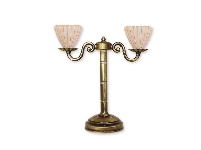 Lampa stołowa Prima plus 2-płomienna O1018/L2 Lemir