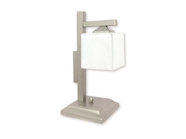 Lampa stołowa Kostka lampka dół 1-płomienna satyna O1068D/L1 SAT Lemir