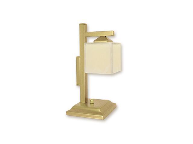 Lampa stołowa Kostka lampka dół 1-płomienna złota O1068D/L1 ZŁ Lemir