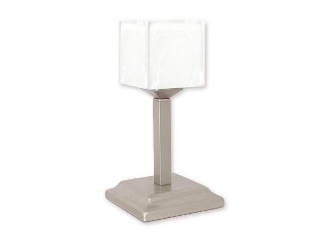 Lampa stołowa Kostka lampka góra 1-płomienna satyna O1068G/L1 SAT Lemir