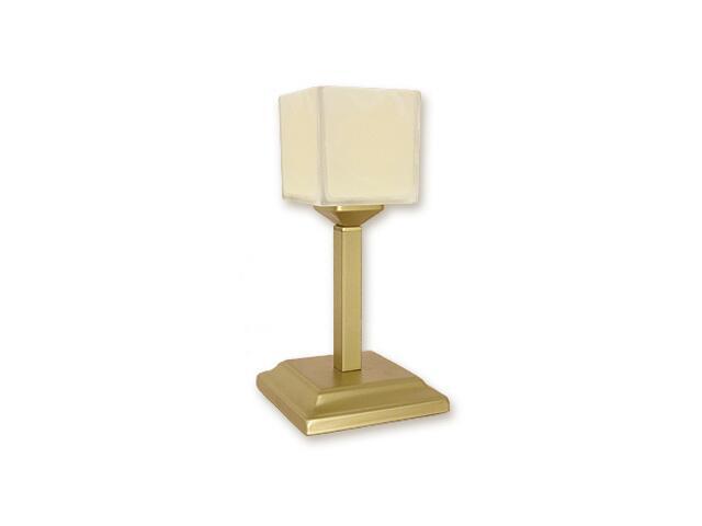 Lampa stołowa Kostka lampka góra 1-płomienna złota O1068G/L1 ZŁ Lemir