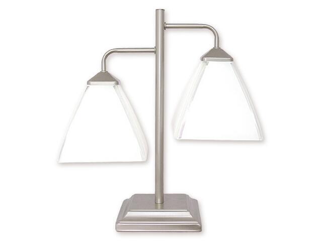 Lampa stołowa Piksel 2-płomienna satyna 888/L2 SAT Lemir
