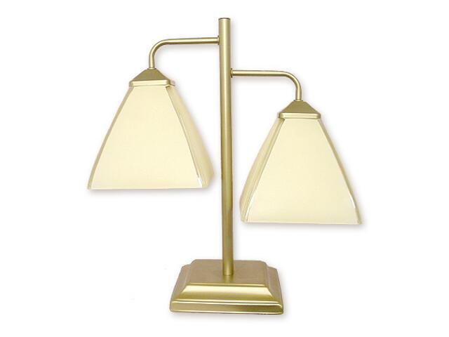Lampa stołowa Piksel 2-płomienna złoto 888/L2 ZŁ Lemir