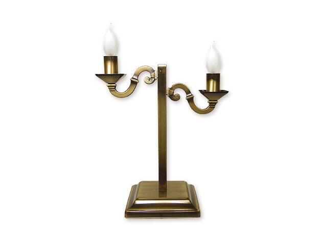 Lampa stołowa Kade 2-płomienna patyna O1028/L2 Lemir
