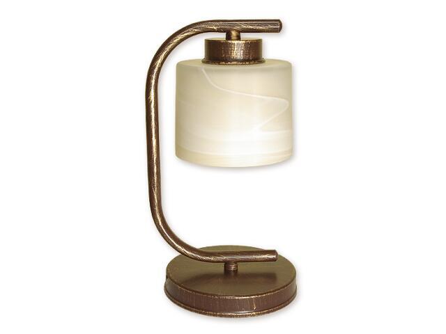 Lampa stołowa Kwazar 1-płomienna brązowa O1108/L1 BR Lemir