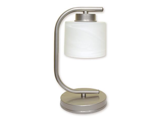 Lampa stołowa Kwazar 1-płomienna satyna O1108/L1 SAT Lemir