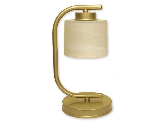 Lampa stołowa Kwazar 1-płomienna złoty O1108/L1 ZŁ Lemir