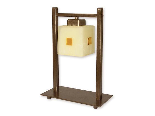 Lampa stołowa Echo 1-płomienna brązowa O1198/L1 BR Lemir