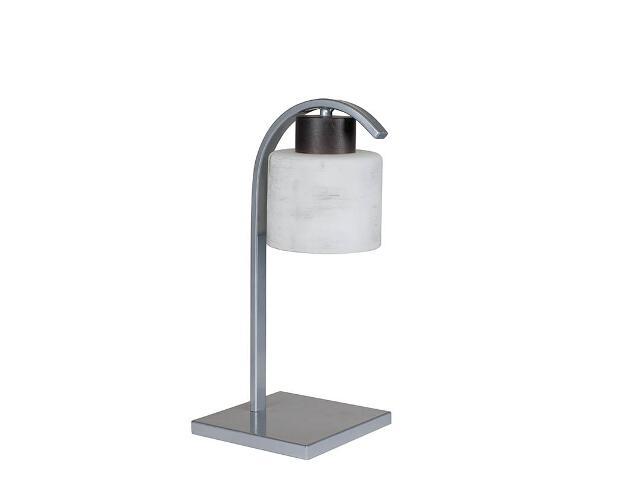 Lampa stołowa Nela wenge srebrna 1xE27 12920 Sigma