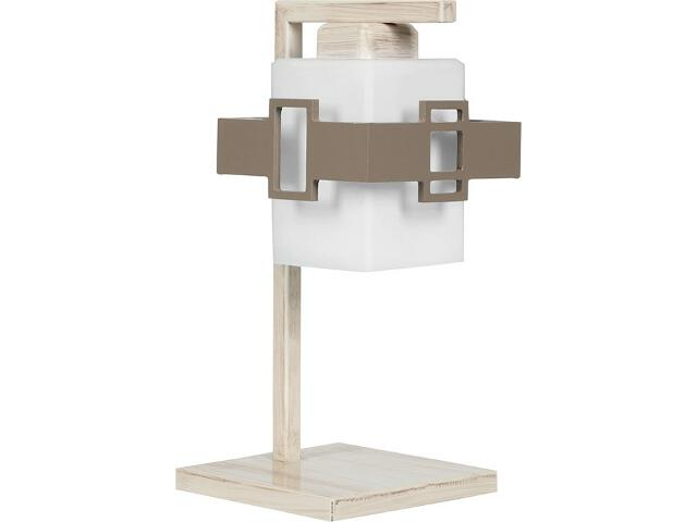 Lampa stołowa Karo 1xE27 beżowa 14615 Sigma