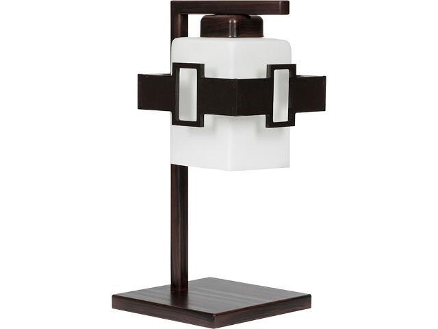 Lampa stołowa Karo 1xE27 wenge 14616 Sigma