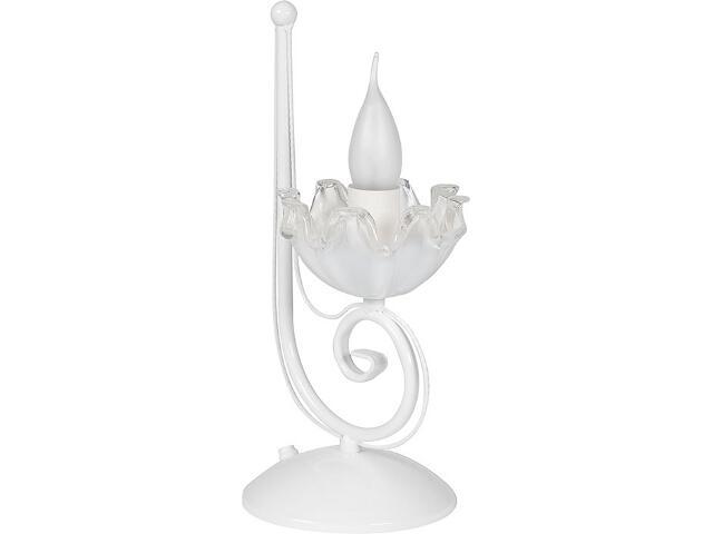 Lampa stołowa Rosa biała 1xE14 14311 Sigma