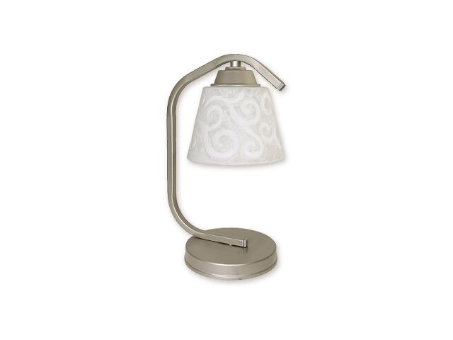 Lampa stołowa Sofi 1-płomienna satyna O1258/L1 SAT Lemir