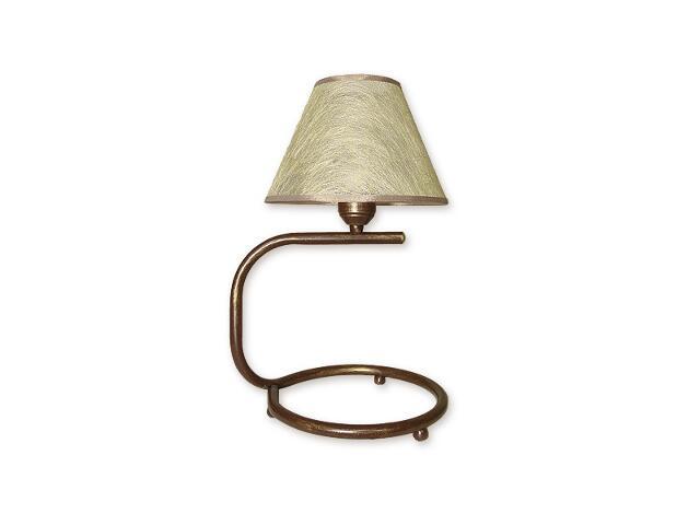 Lampa stołowa Tores Abażur 1-płomienna brązowa O1278/L1 BR Lemir