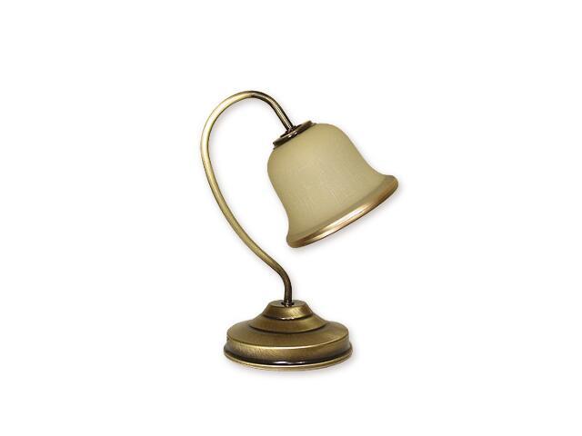 Lampa stołowa Markus 1-płomienna patyna O1288/L1 Lemir