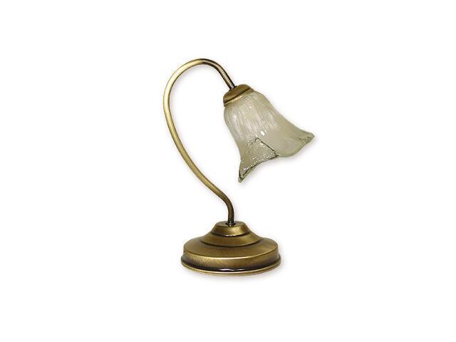 Lampa stołowa Olech 1-płomienna patyna O1308/L1 Lemir