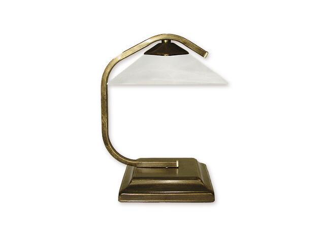 Lampa stołowa Portos 1-płomienna oliwka złota O1338/L1 Lemir