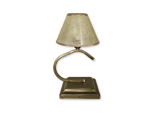 Lampa stołowa Portos Abażur 1-płomienna oliwka złota O1348/L1 Lemir
