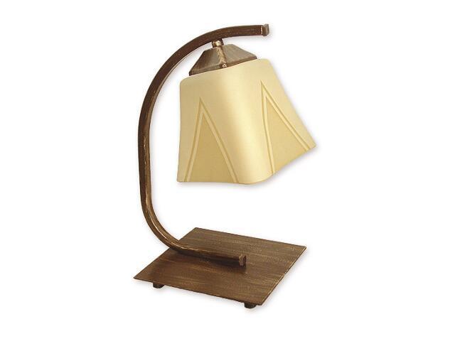 Lampa stołowa Lori 1-płomienna brązowa O1408 BR Lemir