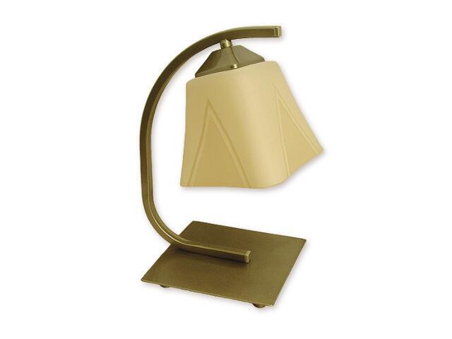Lampa stołowa Lori 1-płomienna oliwka metalik O1408 OLM Lemir