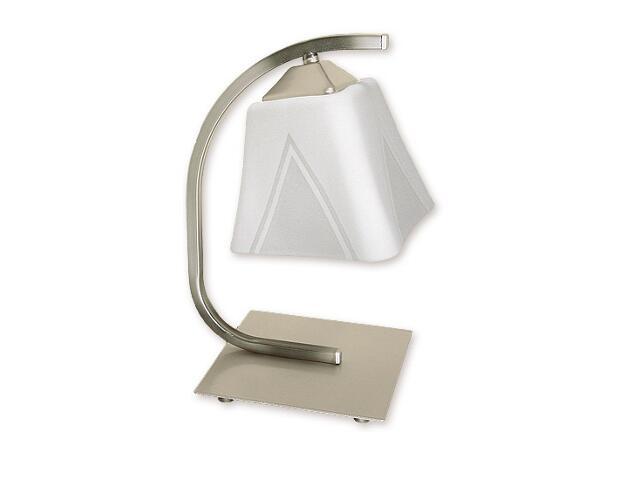 Lampa stołowa Lori 1-płomienna satyna O1408 SAT Lemir