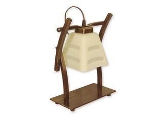 Lampa stołowa Dipol 1-płomienna brązowa O1418 BR Lemir