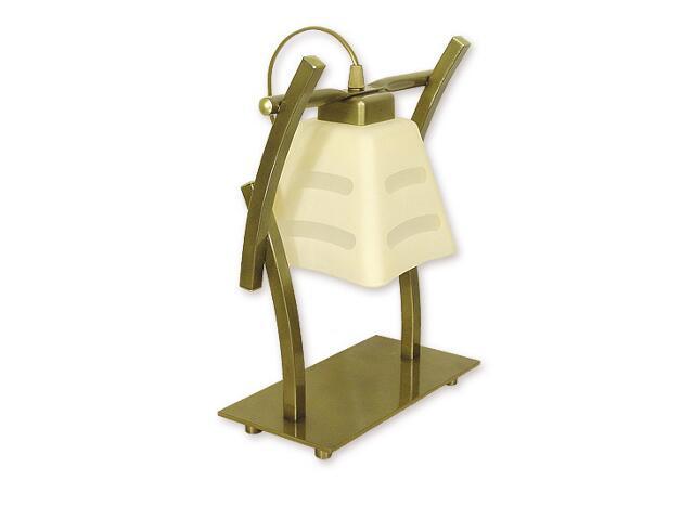 Lampa stołowa Dipol 1-płomienna oliwka metalik O1418 OLM Lemir