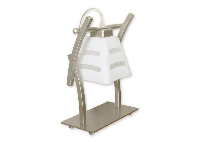 Lampa stołowa Dipol 1-płomienna satyna O1418 SAT Lemir