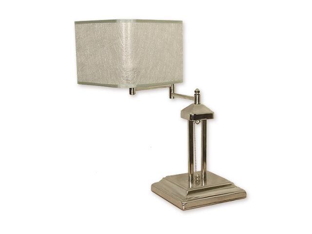 Lampa stołowa Helion 1-płomienna przegub nikiel O1378 NK Lemir