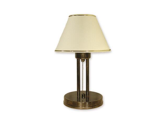 Lampa stołowa Miles 1-płomienna oliwka złota O1388 OLZ Lemir