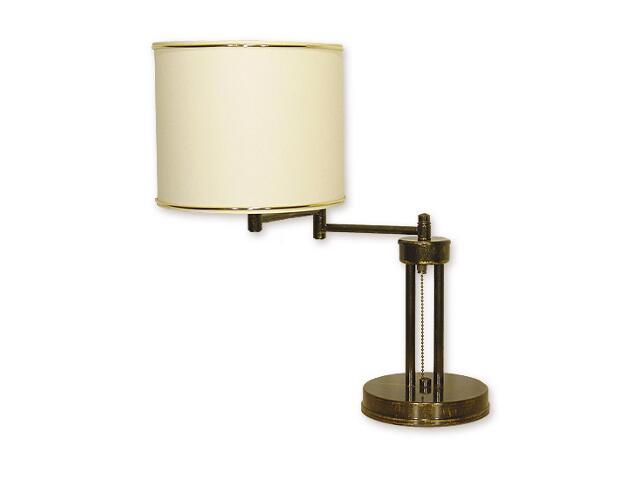 Lampa stołowa Mitos 1-płomienna przegub oliwka złota O1398 OLZ Lemir
