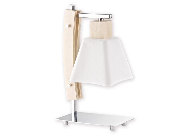 Lampa stołowa Dreno 1-płomienna chrom buk O1478 BK Lemir