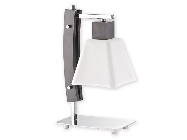 Lampa stołowa Dreno 1-płomienna chrom wenge O1478 WG Lemir