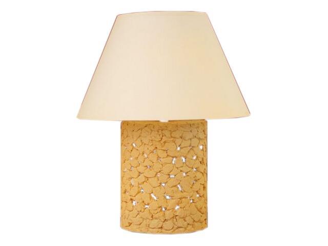 Lampa stołowa WALEC abażur jasny szamot 1798 Cleoni