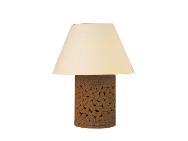 Lampa stołowa WALEC abażur ciemny szamot 1799 Cleoni