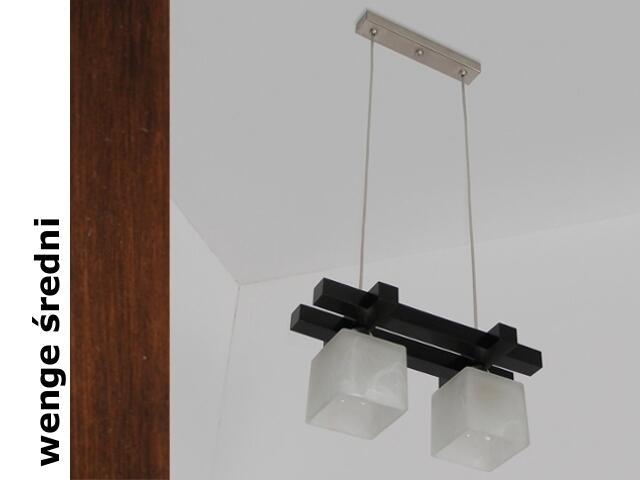 Lampa sufitowa AVEO CEVS wenge średnia 1156CEVS Cleoni