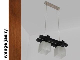 Lampa sufitowa AVEO CGVJ wenge jasna 1156CGVJ Cleoni